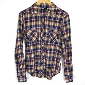 Urban Outfitters Plaid Flannel Button Down Shirt